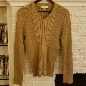 Gold metallic sweater, size XL